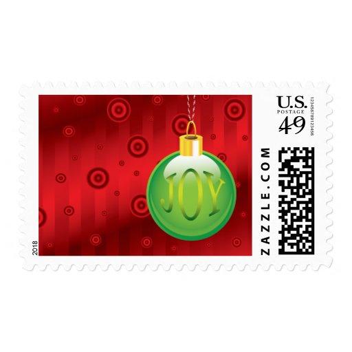 Christmas Ornament Joy 2014 Postage Stamp
