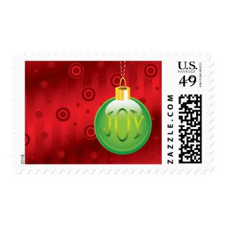 Christmas Ornament Joy 2016 Postage Stamp