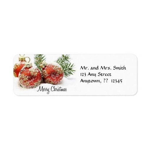 Christmas Ornament Label Return Address Label