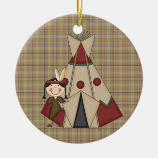 Christmas Ornament Native American Indian Girl