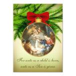 Christmas Ornament Nativity Jesus Birth 4.5x6.25 Paper Invitation Card