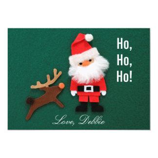 Christmas Ornament of felt Card