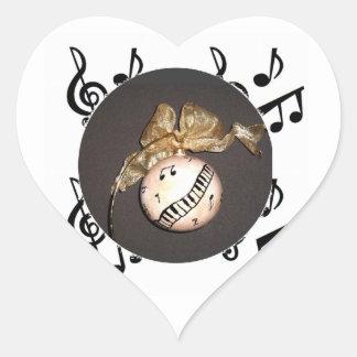 Christmas Ornament Original Sticker~Linda Powell Heart Sticker