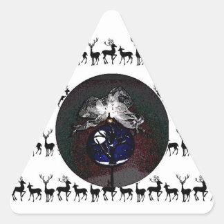 Christmas Ornament Original Sticker~Linda Powell Triangle Sticker