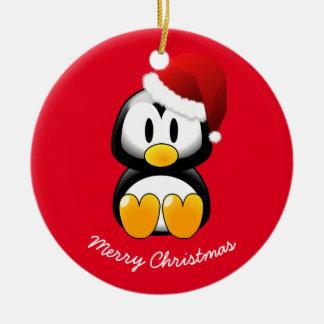 Christmas Ornament-Penguin Ceramic Ornament