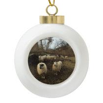 Christmas Ornament: Peterson's Farm, Woods Hole MA Ceramic Ball Christmas Ornament