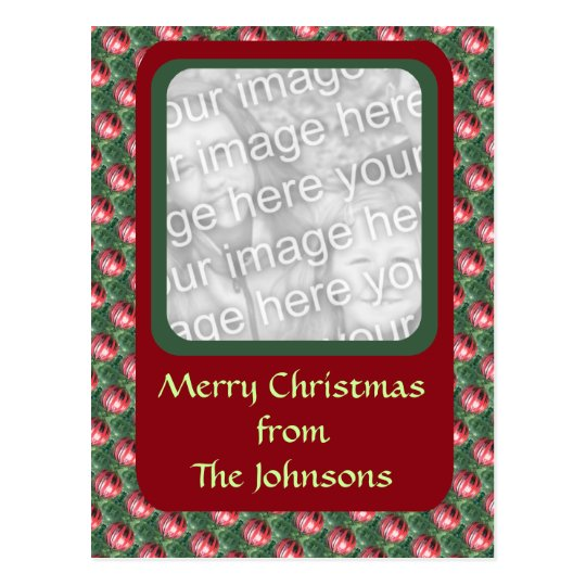 Christmas Ornament photo frame Postcard