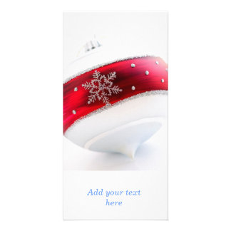 Christmas ornament personalized photo card