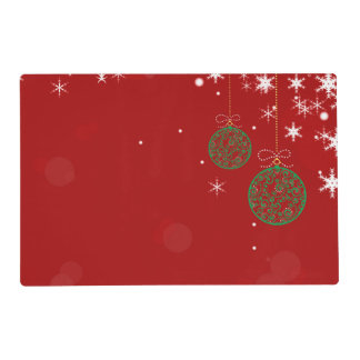 Christmas Ornament Placemat