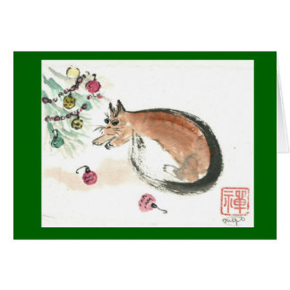Christmas Ornament Pounced and More by kitty Card