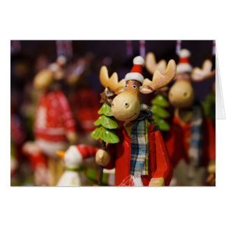 Christmas ornament Santa Claus Moose Card