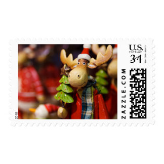 Christmas ornament Santa Claus Moose Postage