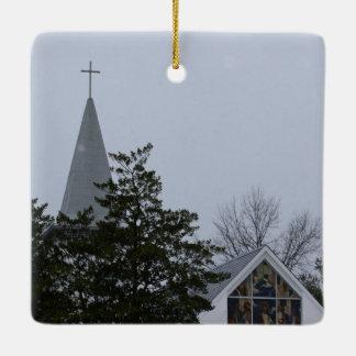 Christmas Ornament: snowfall/thaw after big snow Ceramic Ornament
