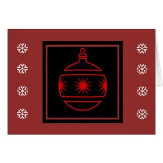 Christmas Ornament Snowflake Christmas Card