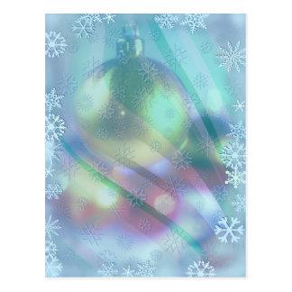 CHRISTMAS ORNAMENT & SNOWFLAKES by SHARON SHARPE Postcard