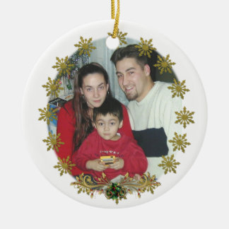 Christmas Ornament snowflakes of gold