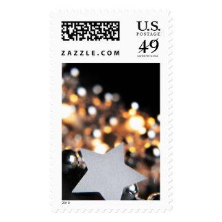 Christmas Ornament Star Postage