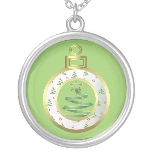 Christmas Ornament Sterling Silver Chain Jewelry