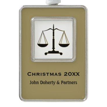 Lawyer Themed Christmas ornament to commemorate special date