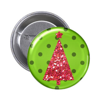 Christmas Ornament Tree Button