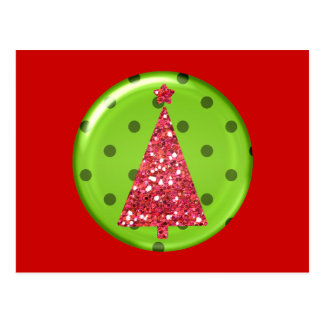 Christmas Ornament Tree Postcard