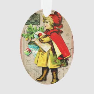Christmas Ornament Vintage Victorian Collage