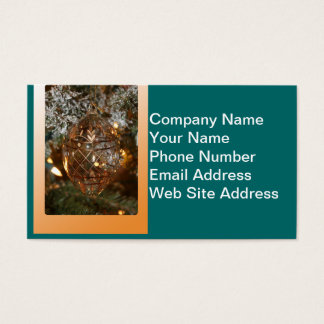 Christmas Ornament w Merry Christmas Text Business Card