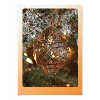 Christmas Ornament w Merry Christmas Text 5x7 Paper Invitation Card