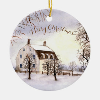 Christmas Ornament Winter in New England