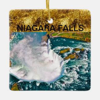 Christmas Ornament with an airshot of Niagara Fall