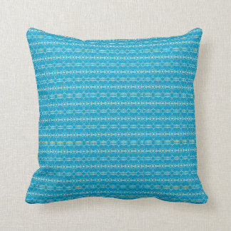 Christmas Ornaments 101 Blue/Mnt Throw Pillow