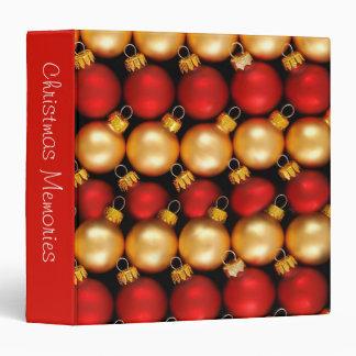 "Christmas Ornaments 1.5"" Photo Album 3 Ring Binder"