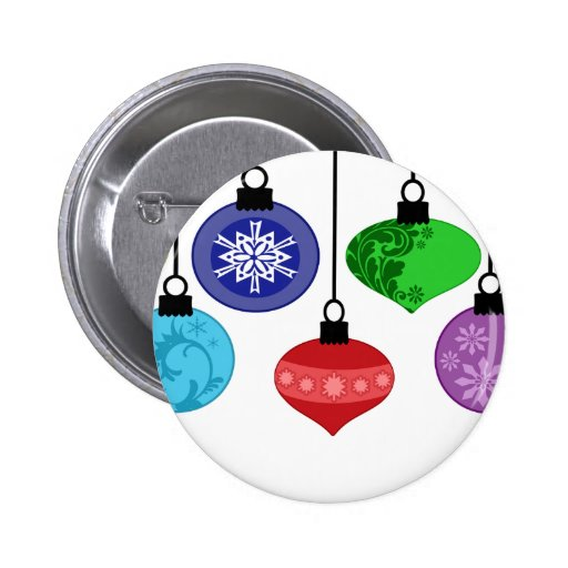 Christmas Ornaments 2 Inch Round Button