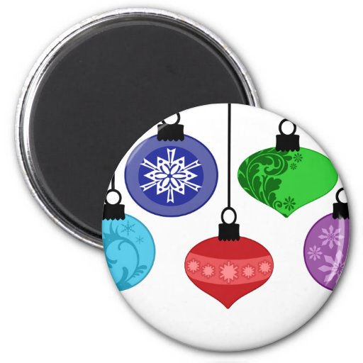 Christmas Ornaments 2 Inch Round Magnet