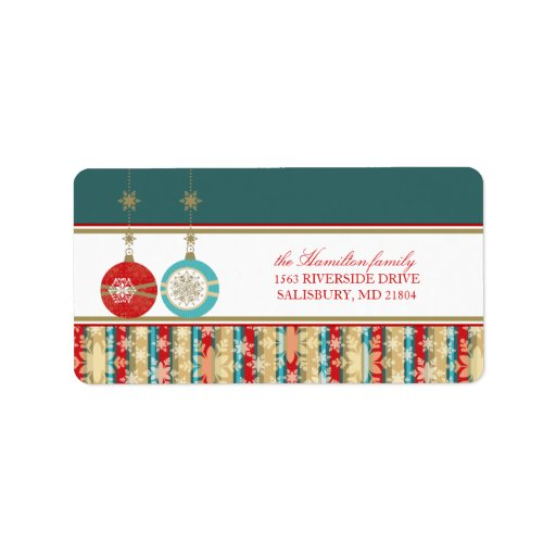 Christmas Ornaments Address Mailing Labels
