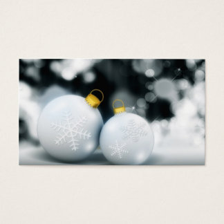 Christmas Ornaments Advent Ball Snow Business Card