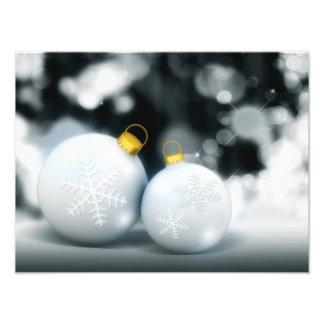 Christmas Ornaments Advent Ball Snow Photo Art