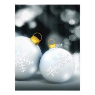 Christmas Ornaments Advent Ball Snow Photographic Print