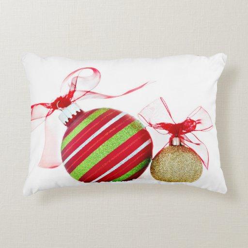 Christmas Ornaments Balls Contemporary Accent Pillow Zazzle