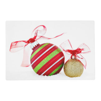Christmas Ornaments Balls Contemporary Placemat