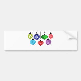Christmas Ornaments Bumper Sticker