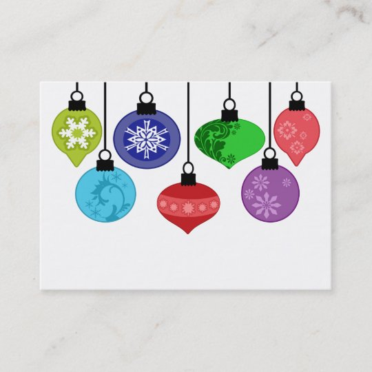 christmas ornaments business card zazzle com