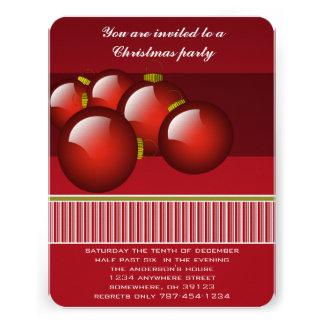 Christmas Ornaments Christmas Party Invitation