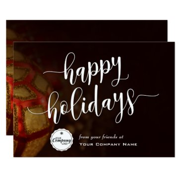 Professional Business Christmas Ornaments, Corporate Happy Holidays Card