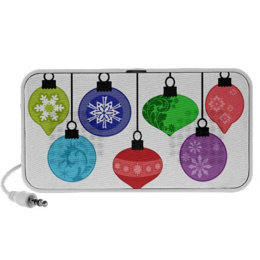 Christmas Ornaments Doodle Notebook Speaker