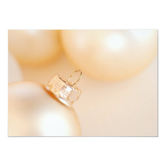 Christmas Ornaments Fancy Gold White Background Card