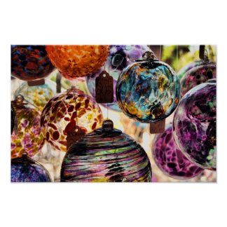 Christmas Ornaments Glass -Poster Poster