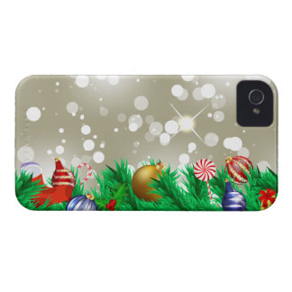 Christmas Ornaments Glitter iPhone 4 Covers