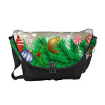 Christmas Ornaments Glitter Courier Bags