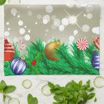 Christmas Ornaments Glitter Towels